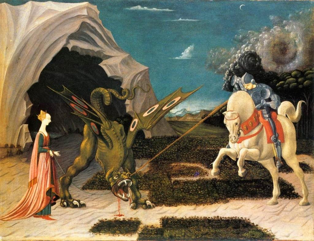 Paolo Uccello. San Jorge y el dragón, 1456-1460. Museo Jacquemart-André, París