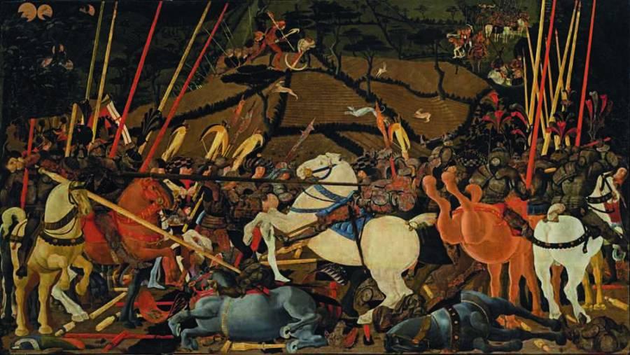 Paolo Uccello. Batalla de San Romano. Uffizi