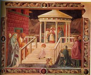 Paolo Uccello. Presentación de la Virgen en el templo