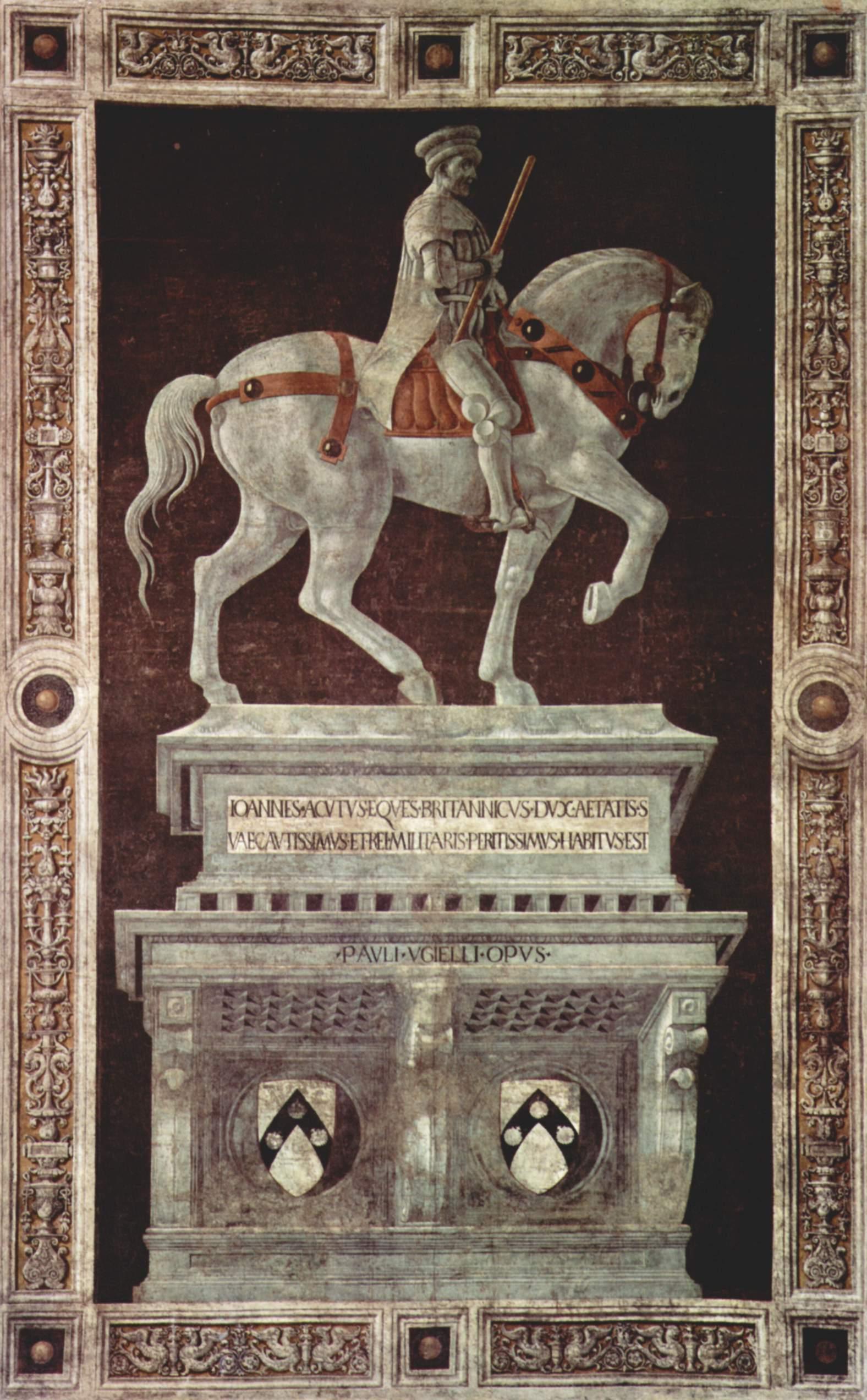 Paolo Uccello. Retrato ecuestre del condotiero Giovanni Acuto