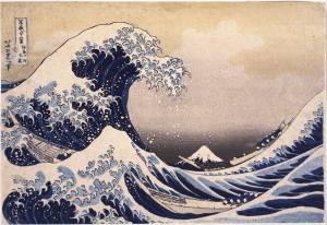 Hokusai. La gran ola, 1831-1834