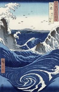 Hiroshige. Los remolinos de Awa, 1885