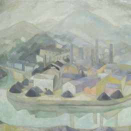 Vázquez Díaz. La fábrica bajo la niebla, hacia 1920. Museo de Bellas Artes de Bilbao