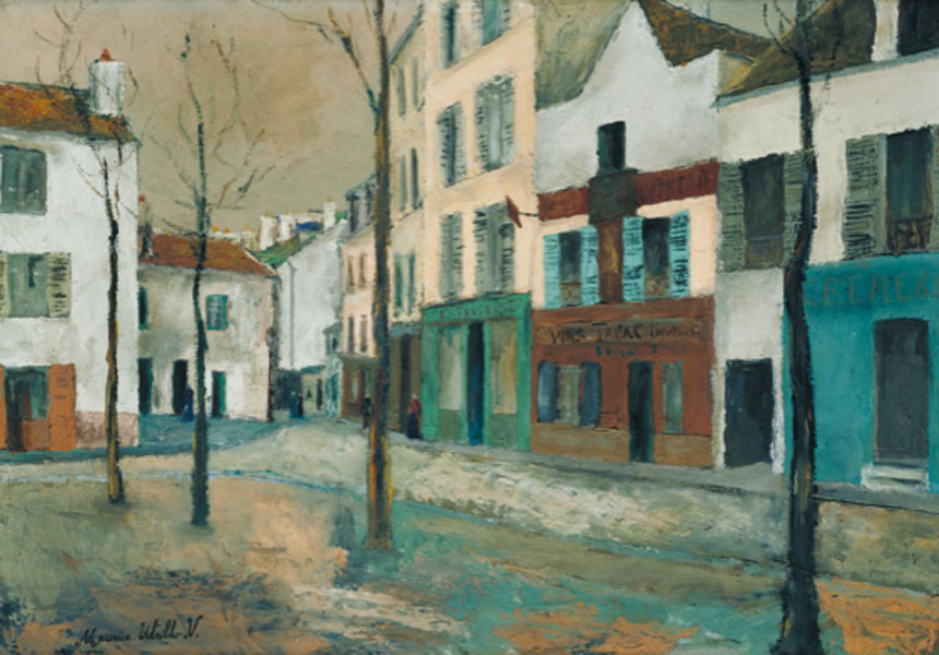 Maurice Utrillo. La Place du Tertre, hacia 1910. Tate. © ADAGP, Paris and DACS, London 2019