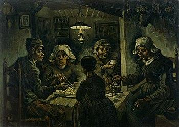 Van Gogh. Comedores de patatas, 1885. Museo Van Gogh