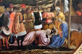 Domenico Veneziano. Adoración de los Magos (fragmento), 1439. Ospedale degli Innocenti