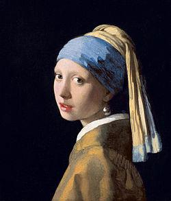 Vermeer. La muchacha con el pendiente de perla, hacia 1665. Mauritshuis, La Haya
