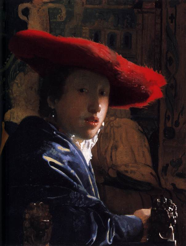 Vermeer. Muchacha con sombrero rojo, hacia 1666-1667. National Gallery, Washington