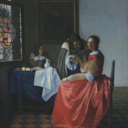 Vermeer. La muchacha con el vaso de vino, 1659-1660. Herzog Anton Ulrich Museum, Braunschweig
