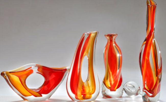 Conjunto de piezas de vidrio soplado