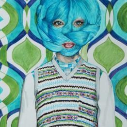 Galería Yusto/Giner Ángeles Agrela. Nº85 Retrato, 2016 Rotulador de pigmento sobre papel, 42 x 29,7 cm