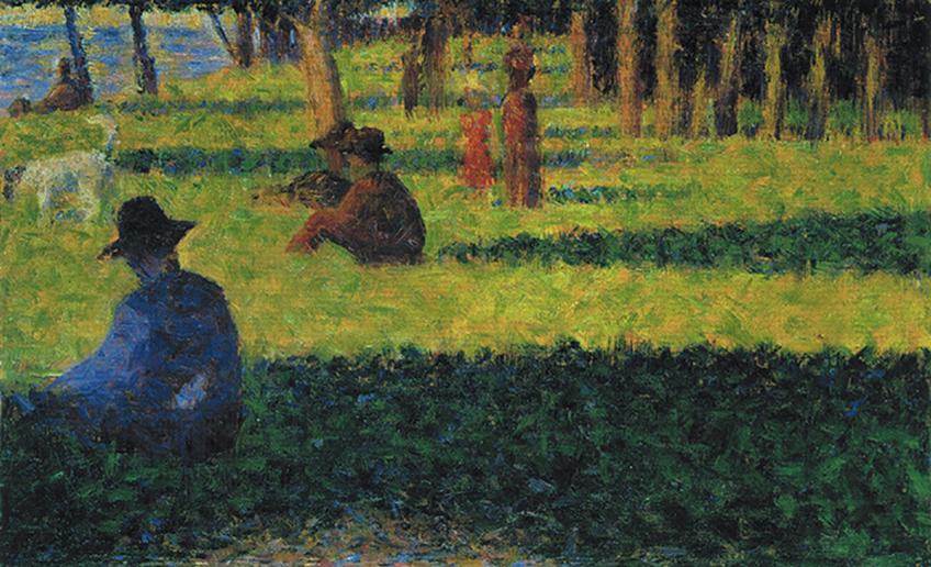 Coleccion Rosengart. Georges Seurat, La Grande Jatte: the White Dog, 1884/85