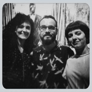 Con Javier Joven y Paula Gonzalo Les