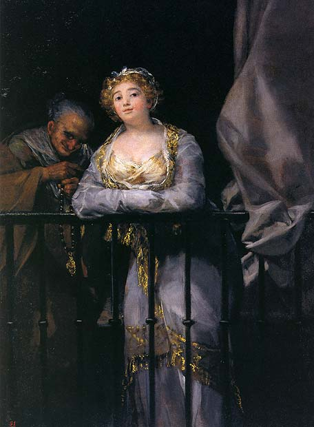 Francisco de Goya. Maja y celestina al balcón,1810-1812. Colección Alicia Koplowitz-Grupo Omega Capital