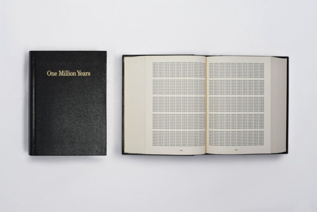 On Kawara. One million years