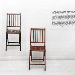 Joseph Kosuth. Una y tres sillas