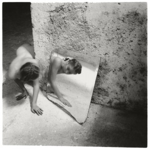 Francesca Woodman. Self-deceit #1, Rome, Italy, 1978 © George and Betty Woodman