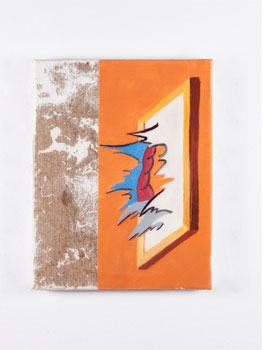 """Marc Badia. All canvases are bored, 2018. """"The foolosopher"""". Hans & Fritz Contemporary, 2018"""