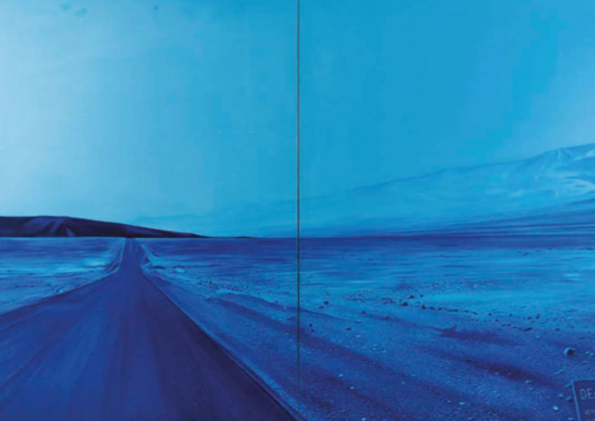 Jacques Monory. Death Valley n°1, 1974.