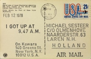 On Kawara. I Got Up at 9.47 A.M. (Feb. 12 1978)