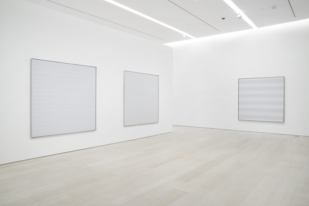 """""""Agnes Martin: The Distillation of Color"""". Pace Gallery, 2021. © Estate of Agnes Martin / Artists Rights Society (ARS), New York"""