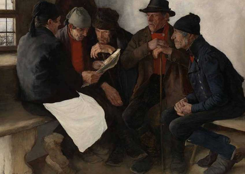 Wilhelm Leibl. The Village Politicians
