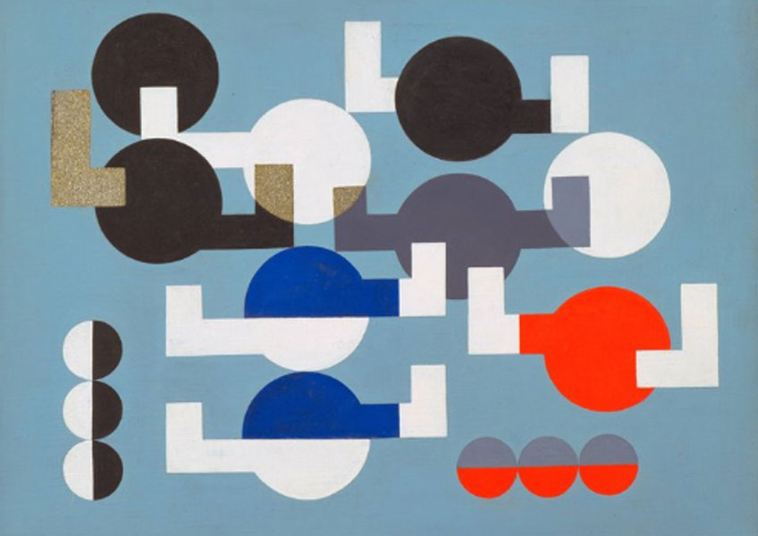 Sophie Taeuber-Arp Composition of Circles and Overlapping Angles 1930. The Museum of Modern Art, New York. The Riklis Collection of McCrory Corporation