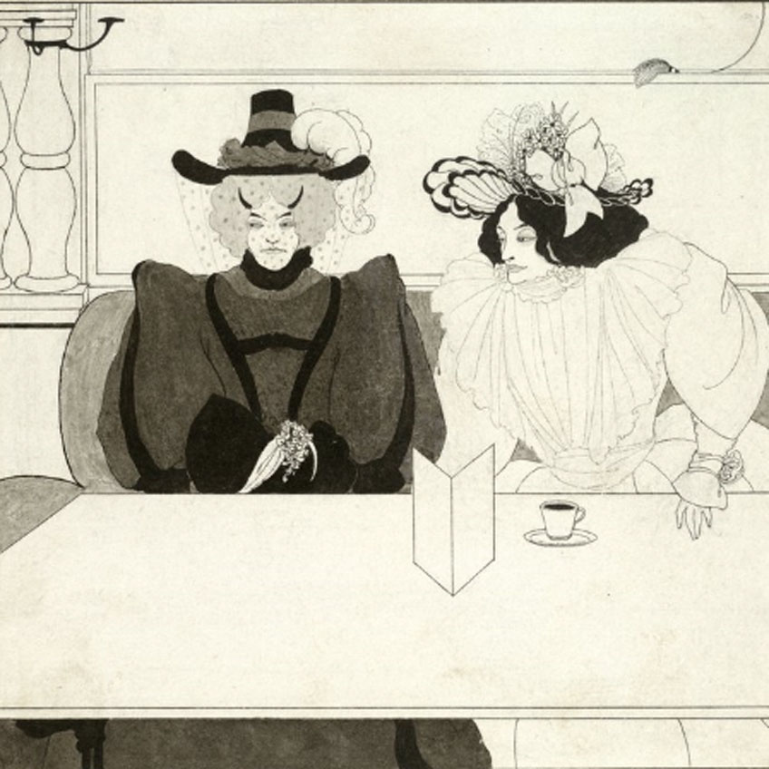 Aubrey Beardsley. Black coffee, 1895. Harvard Art Museums/Fogg Museum