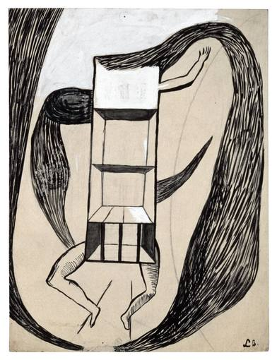 Louise Bourgeois. Femme-Maison, 1947. Colección Moderna Museet