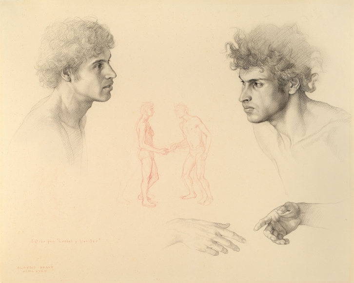 Claudio Bravo. Two Heads and Hands (Study for Luzbel and Lucifer), 1983