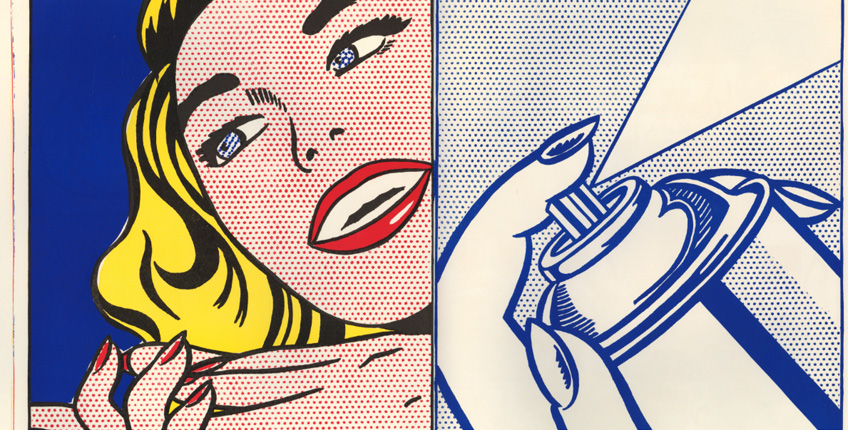 Roy Lichtenstein. Girl/Spray Can from Walasse Ting. 1¢ Life, 1963. © The Trustees of the British Museum. © Estate of Roy Lichtenstein