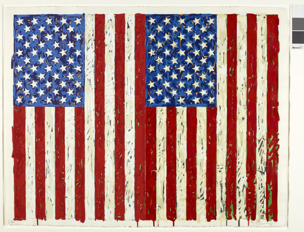 Jasper Johns. Flags I, 1973. ©Jasper Johns, VEGAP, Barcelona, 2020