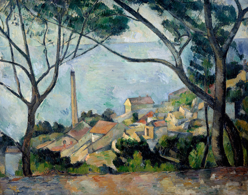 Paul Cézanne. El mar en l'Estaque, 1878–1879. Musée national Picasso-Paris © 2020. Foto Josse/Scala, Florencia