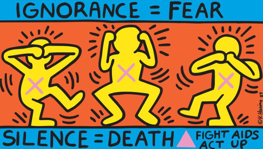 Keith Haring. Ignorance = Fear, 1989. Keith Haring Foundaton/ Collection Noirmontartproduction, París