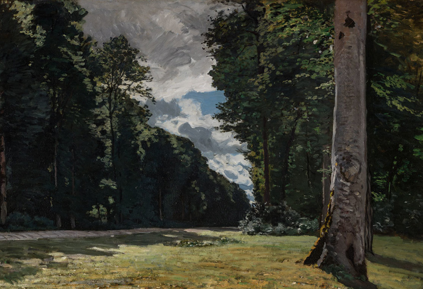 Claude Monet. The Chailly Road through the Forest Fontainebleau, 1865.. © Ordrupgaard, Copenhagen