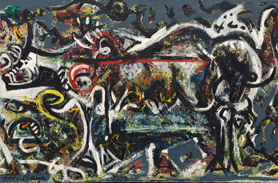 Jackson Pollock. The She-Wolf, 1943. The Museum of Modern Art, Nueva York