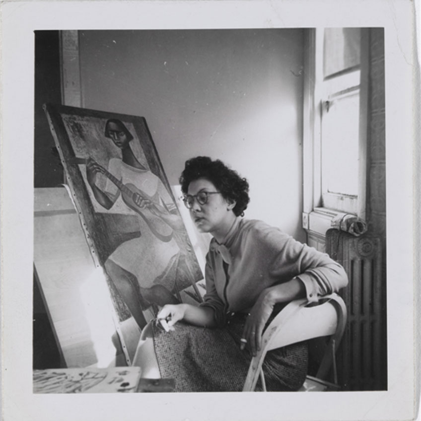 Charles White. Elizabeth Catlett in her studio. c. 1942. Colección privada. © The Charles White Archives