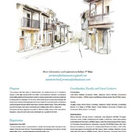 Cantabria Traditional Architecture Summer School 2019
