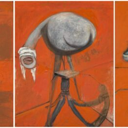 Francis Bacon. Three Studies for Figures at the Base of a Crucifixion, 1944. © Estate of Francis Bacon