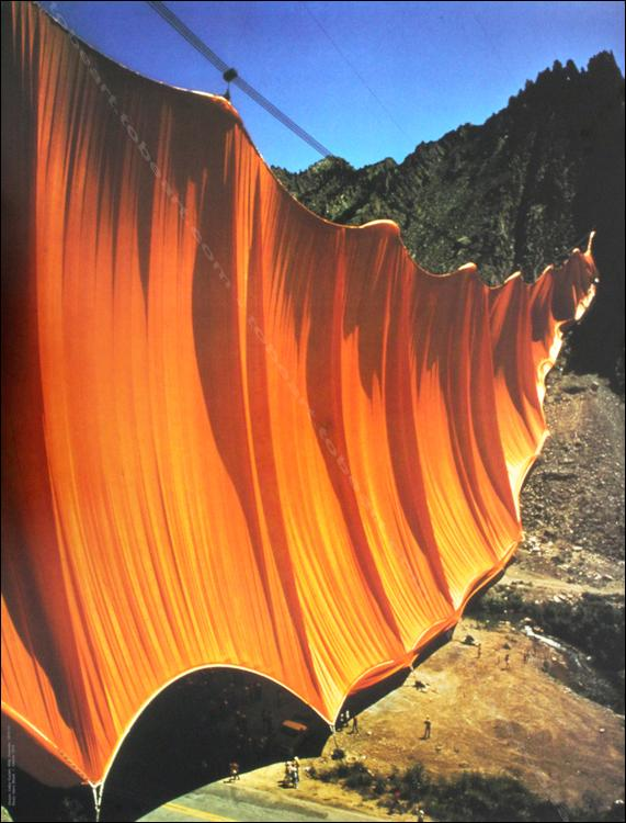 Christo y Jeanne-Claude. Valley Courtain, 1970-1972