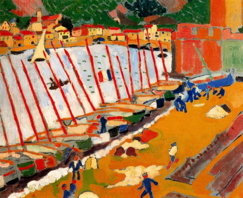 Derain. Arrabal de Collioure, 1905
