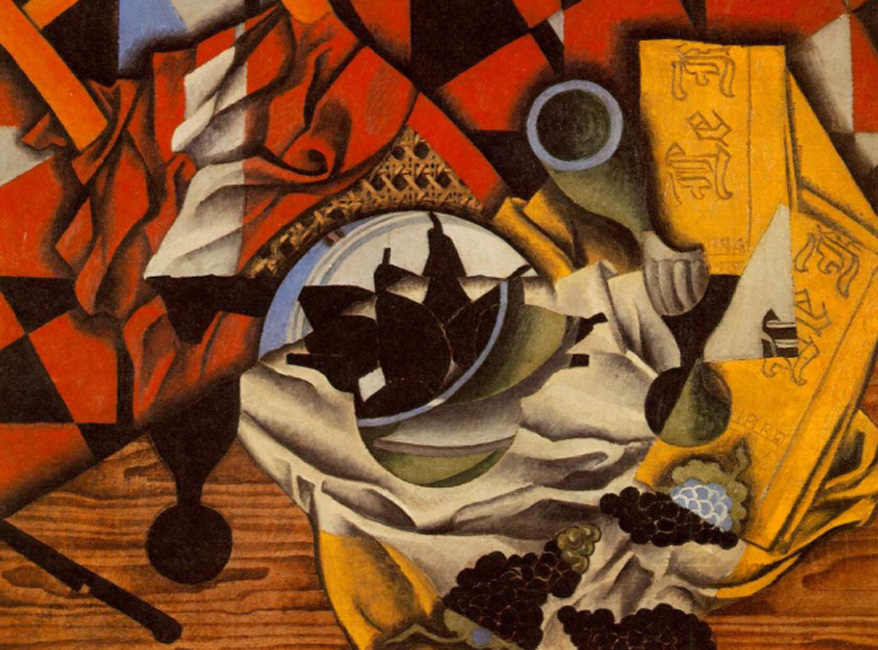 Juan Gris. Peras y uvas en una mesa, 1913. Mr. amd Mrs. Burton Tremaine Collection