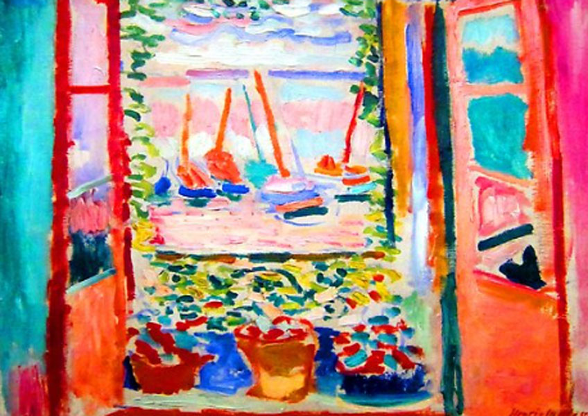 Matisse. Ventana abierta (fragmento), 1905. National Gallery of Art, Washington