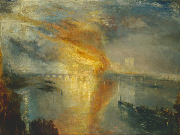 J.M.W. Turner. The Burning of the Houses of Lords and Commons, 16 October, 1834