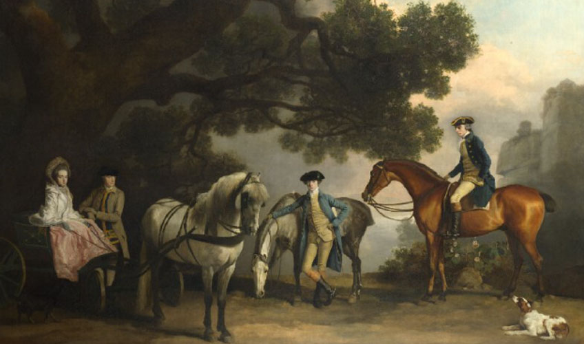 George Stubbs. The Milbanke and Melbourne Families, hacia 1769. National Gallery, Londres