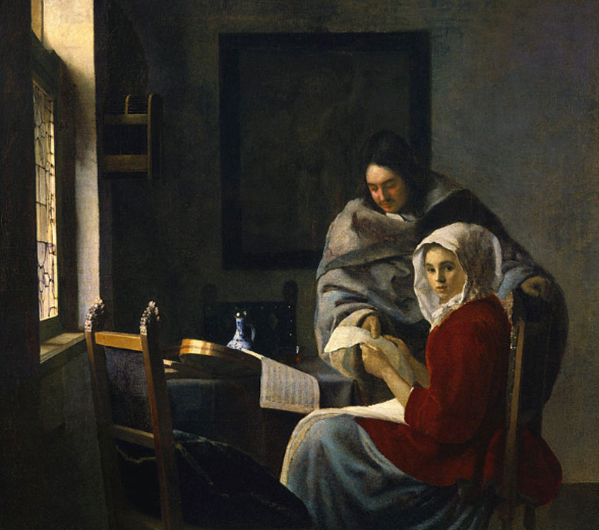 Vermeer. La clase de música interrumpida, 1660. Frick Collection, Nueva York